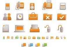 Icona semplice di colore - ufficio Fotografia Stock