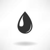 Icona semplice di goccia Fotografia Stock Libera da Diritti