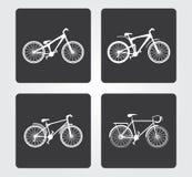 Icona semplice di web: Bicicletta Fotografie Stock Libere da Diritti