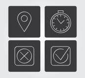 Icona semplice di web in: linea stile sottile Immagine Stock