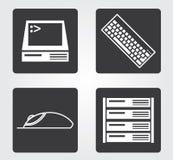 Icona semplice di web in: mobili d'ufficio Immagini Stock Libere da Diritti