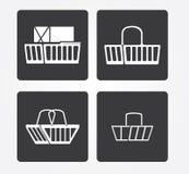 Icona semplice di web in: mobili d'ufficio Immagini Stock