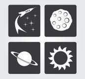 Icona semplice di web in: spazio Fotografia Stock