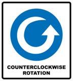 Icona in senso antiorario della freccia di rotazione Simbolo obbligatorio blu Illustrazione isolata su bianco Pittogramma semplic illustrazione vettoriale