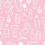 Icona senza cuciture dei cosmetici Fotografie Stock Libere da Diritti
