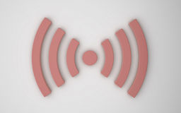 Icona senza fili 3d Immagini Stock