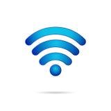 Icona senza fili del collegamento di simbolo di Wifi 3d Fotografia Stock Libera da Diritti