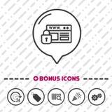 Icona sicura del sito Web Simbolo di protezione royalty illustrazione gratis