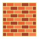 Icona, sicurezza e configurazione piane del muro di mattoni royalty illustrazione gratis