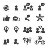 Icona sociale Fotografie Stock
