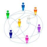 Icona sociale dei collegamenti Immagini Stock
