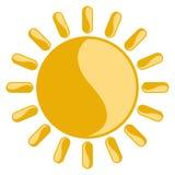 Icona soleggiata isolata del tempo Fotografie Stock