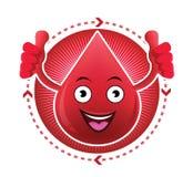 Icona sorridente del sangue del fumetto Immagine Stock