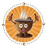 Icona sorridente della tazza di caffè del fumetto Immagini Stock