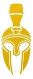 Icona spartana o Trojan del casco Fotografia Stock Libera da Diritti