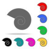 Icona a spirale Elementi nelle multi icone colorate per i apps mobili di web e di concetto Icone per progettazione del sito Web e royalty illustrazione gratis