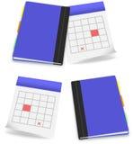 Icona stabilita dell'ufficio del diario del calendario royalty illustrazione gratis