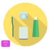 Icona stabilita di cure odontoiatriche Fotografie Stock