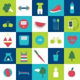 Icona stantia moderna di vita di salute e di forma fisica illustrazione vettoriale