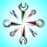 Icona, strumento, chiave 1 Fotografie Stock Libere da Diritti