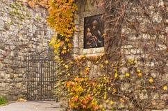 Icona sulla parete della chiesa alla fortezza di Kalemegdan a Belgrado Immagini Stock Libere da Diritti