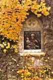 Icona sulla parete esterna della chiesa alla fortezza di Kalemegdan Immagine Stock Libera da Diritti