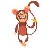 Icona sveglia del carattere della scimmia del fumetto Illustrazione di vettore immagine stock libera da diritti