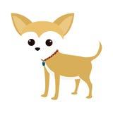 Icona sveglia del fumetto del cane Immagine Stock