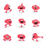Icona sveglia del personaggio dei cartoni animati di gomma da masticare Fotografia Stock Libera da Diritti