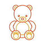 Icona sveglia dell'orsacchiotto dell'orso Fotografia Stock Libera da Diritti