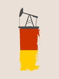 Icona tagliata della pompa di olio Fotografia Stock Libera da Diritti