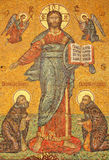 Icona tramite l'entrata delle chiese Fotografia Stock