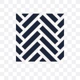 Icona trasparente del parquet Progettazione di simbolo del parquet da Constructio illustrazione vettoriale