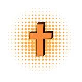 Icona trasversale cristiana dei fumetti illustrazione di stock