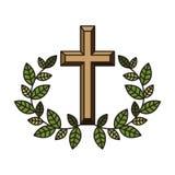 Icona trasversale religiosa illustrazione di stock