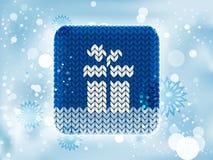 Icona tricottata di inverno Immagini Stock Libere da Diritti