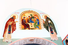 Icona in trinità Sergius Lavra, Sergiev Posad, Russia Mondo Herit dell'Unesco Fotografia Stock Libera da Diritti
