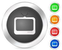Icona TV del calcolatore Immagine Stock