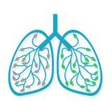 Icona umana del polmone Immagini Stock Libere da Diritti