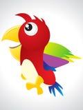 Icona variopinta astratta dell'uccello Fotografia Stock