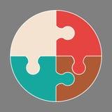 Icona variopinta circolare illustrazione di stock