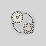 Icona variopinta di produttività illustrazione di stock