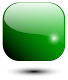 Icona verde fotografia stock