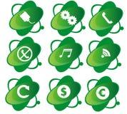 Icona verde Immagini Stock