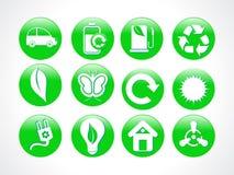 Icona verde astratta di eco Fotografia Stock Libera da Diritti