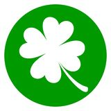 Icona verde del cerchio del trifoglio illustrazione di stock