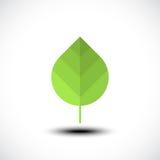 Icona verde del foglio Concetto di Eco Immagine Stock Libera da Diritti
