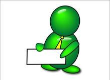 Icona verde del messaggero della bolla Immagine Stock