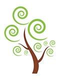 Icona verde dell'albero Fotografia Stock
