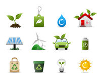 Icona verde dell'ambiente Immagini Stock Libere da Diritti